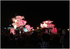屋外用無線機器+マルチデコーダシステムで離れた場所にイベント映像を伝送【第40回夜高あんどん祭り(北海道沼田町)】