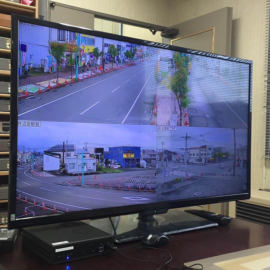 沼田町役場から運営本部へ一括映像伝送