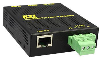 産業用ギガビットPoE+スプリッタ KPW-T2P25(5V/12V)