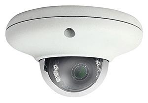 H.265圧縮/防水・防塵性能IP66対応 屋外用ミニドームカメラ HIC-SV4F368P-MIL
