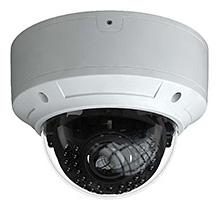 H.265圧縮/防水・防塵性能IP66対応 屋外用ヴァンダルドームカメラ HIC-SV4R8P-IL2A