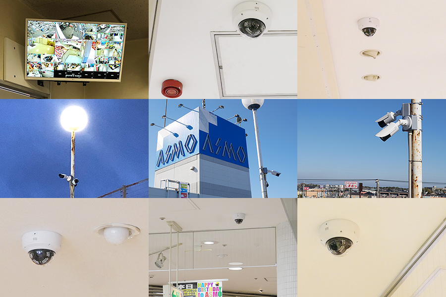 屋外/屋内さまざまな場所へIPカメラを設置