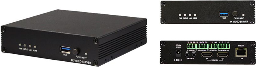 SRT搭載 4K60P エンコーダ/デコーダ「TCS-8500」